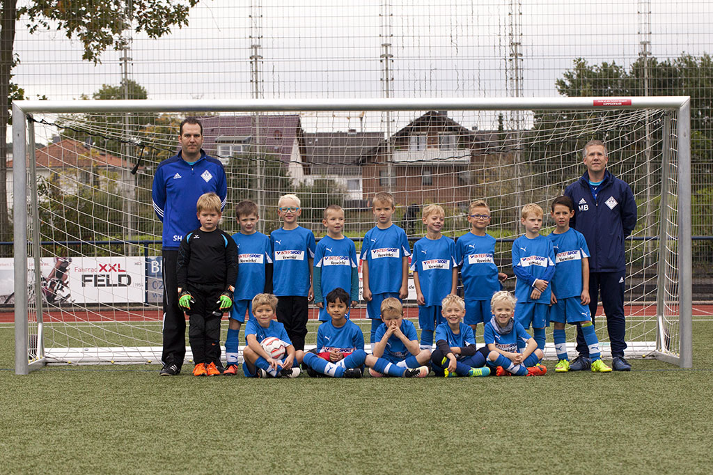 Team der F2-Jugend - Jahrgang 2010