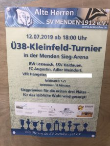 Alte Herren: Turniersieg in Menden!